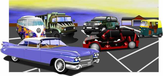 'Spill points alert! 6 cars, 6 songs, 6 points - which car represents which song, and can you identify the vehicles? Thanks to DsD for the inspiration! ... Bonus point if anyone spots the slight anachronism.