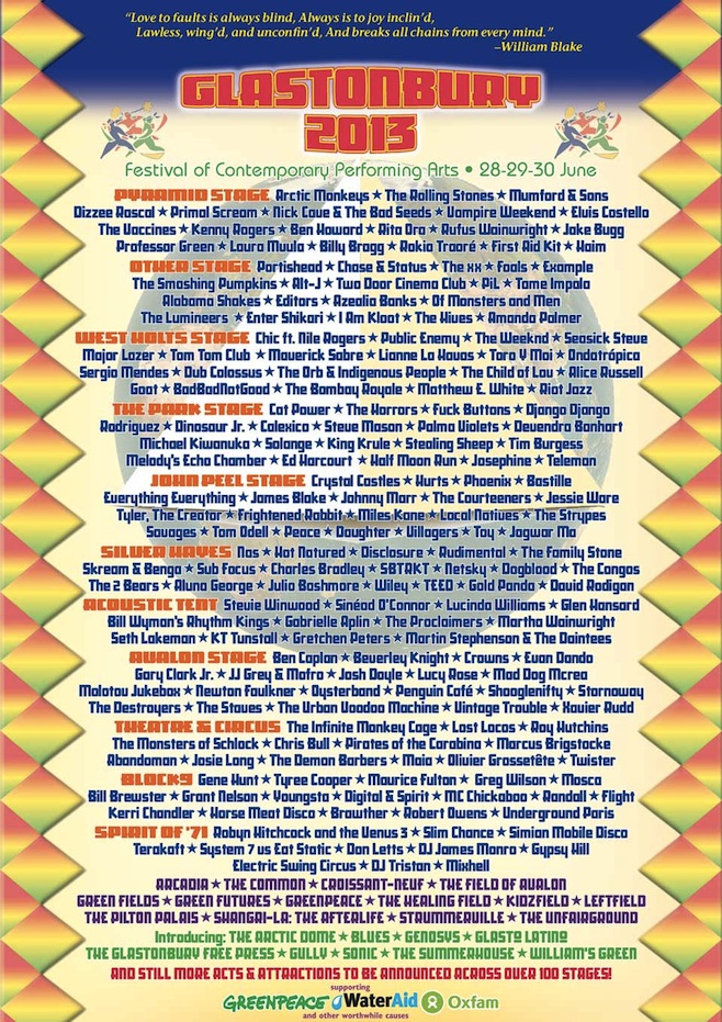 Glastonbury-2013-lineup
