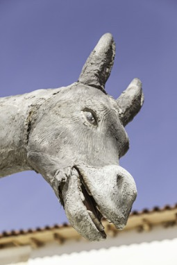 26945814 - donkey shaped statue, detail of a figure of a donkey, decoration and fun