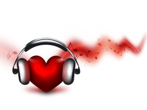 11142405 - heart with headphones - the concept of a music lover